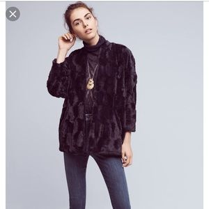 Anthro equinox tiny editions faux fur coat